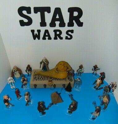 Lot of Vintage Star Wars action figures: Jabba the Hutt and goons, all original