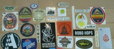 25 BEER STICKER PACK LOT decal craft beer brewing brewery tap handle 45