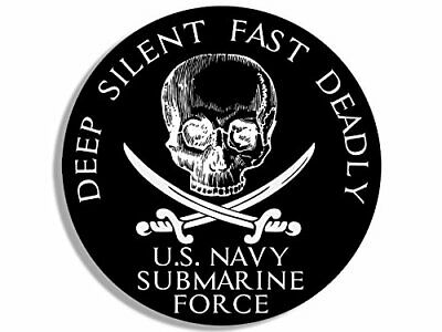 4x4 inch MAGNETIC Round US Navy Submarine Force Deep Silent Fast Deadly MAGNET