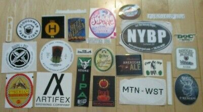 25 BEER STICKER PACK LOT decal craft beer brewing brewery tap handle 48