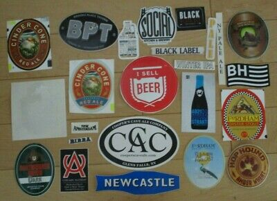 25 BEER STICKER PACK LOT decal craft beer brewing brewery tap handle 56