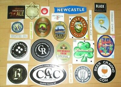 25 BEER STICKER PACK LOT decal craft beer brewing brewery tap handle 59
