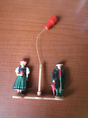 VINTAGE CUCKOO CLOCK or WEATHER HOUSE FIGURINES (500A21)