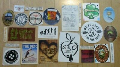 25 BEER STICKER PACK LOT decal craft beer brewing brewery tap handle 61