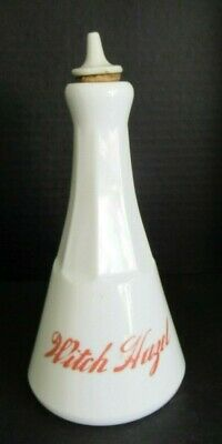 Antique Witch Hazel Barber Bottle With Red Lettering