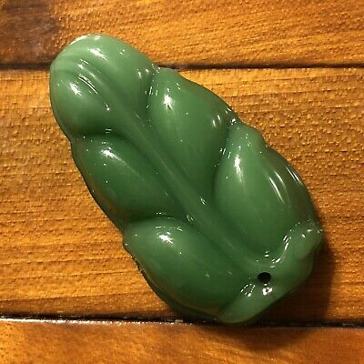 Chinese Green Jade Glass Or Stone Pendant Asian Jewelry Traditional Imperial