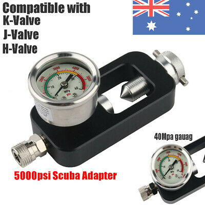 5000psi Scuba Refill Station Filling Adapter&40mpa Gauge For Air Scuba Tank