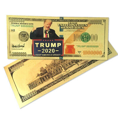 10Pcs 2020 US Donald Trump Commemorative Coin President Banknote Non-currency LN