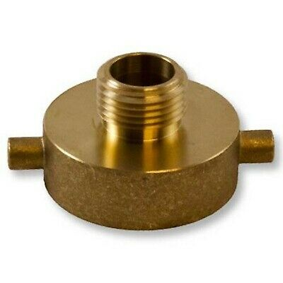 """Brand New Brass Pin Lug 1 1/2"""" Female NH to Male Garden Hose Threaded Adapter"""