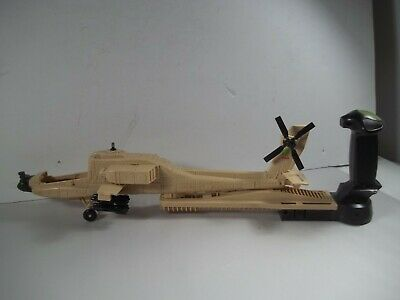 Pre Owned Used Vintage 1990'S Gi Joe Hand Guided Ah-74 Desert Apache Helicopter