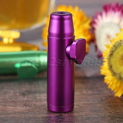 Mini Portable Tobacco Herb Powder Smoking Tool Durable Aluminum Container Purple