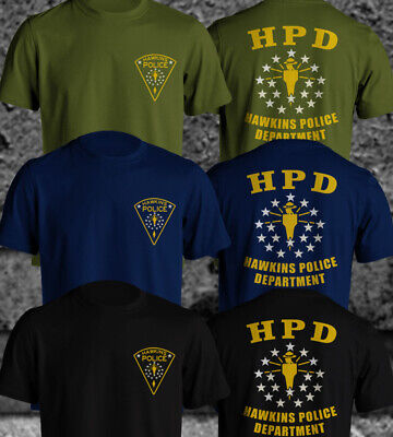 Hawkins Police Department Inspired by Stranger Things New Design Men T-Shirt