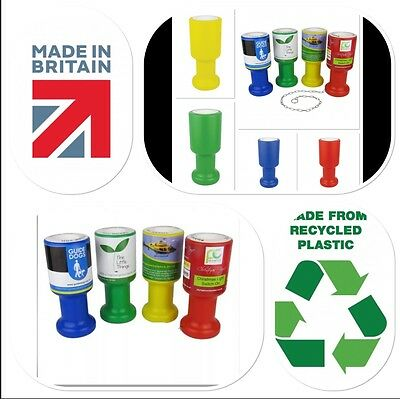 Charity Fundraising Money Collection Boxes Pots & Security Labels in Pack of 10