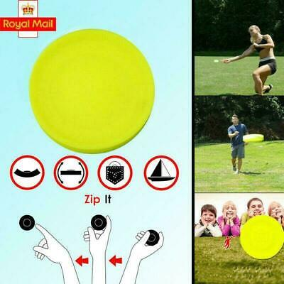 Zip Chip Frisbee Mini Pocket Flexible Soft New Spin in Catching Game Flying Disc