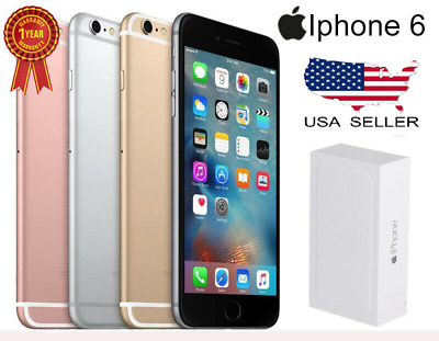 New & Sealed Apple iPhone 6 Smartphone 64GB GSM Factory Unlocked 4G LTE WiFi iOS