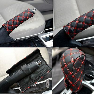 Black Accessories Strap Red Car Case Leather Hand Brake Gear Shifts New Arrival
