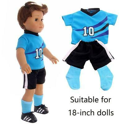 Comfortable Jersey Boy Friend Doll Suit For 18 inches Boys clothing Sportsw R1G9
