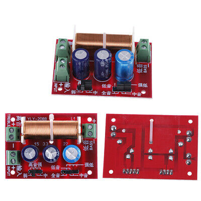 400W treble/bass frequency divider double 2 way speaker audio crossover filterBL
