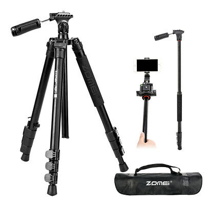 ZOMEI 007 Tripod Monopod with Phone Clip For Camera/Phone/Live broadcast/Youtube