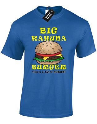 Big Kahuna Burger Mens T Shirt Cult Movie Pulp Tarantino Fiction Retro Cool