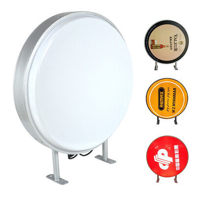 """24"""" LED Double Sided Outdoor Round Light Box Advertising Sign Waterproof"""