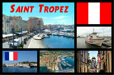 Saint Tropez, France - Souvenir Novelty Fridge Magnet, Sights / Flags / Gifts