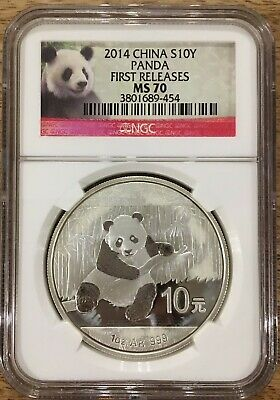 20x 2014 China S10Y Silver Panda NGC MS70 First Release Red Label