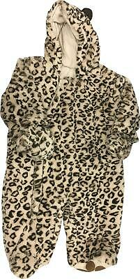 PRE-OWNED Girls Mothercare Tu Brown Animal Print Sleepwear All In One 3-6 Months
