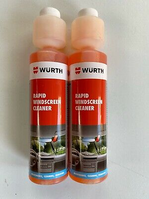 *****2 x 250ml WÜRTH RAPID WINDSCREEN CLEANER CONCENTRATE SCREEN WASH*****