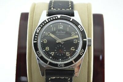 Vintage Dollar Diver Hand Winding Siwiss Made Men's watch
