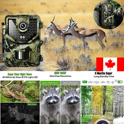 1080PHD16MP Hunting Trail Camouflage Camera Video Wildlife Infrared Night Vision