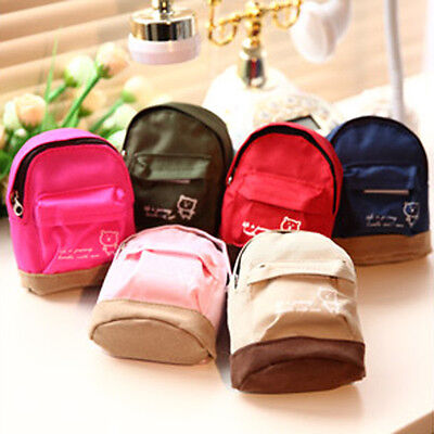 Mini Small Cute Women Lady Girl Pouch Coin Purse Backpack Canvas Bag Wallet DP