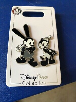 Disney Park Trading Pin Oswald The Lucky Rabbit & Girlfriend Ortensia 2 Pins