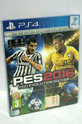 Pes 2016 Pro Evolution Soccer Day One Edition Gioco Ps4 New Factory Mg1 64658