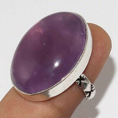 U2014 Amethyst Lace 925 Silver Plated Ring Us 7