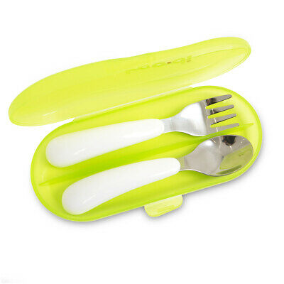 Koo-di Stainless Steel Spoon / Fork Toddler Weaning Feeding Travel Cutlery Set