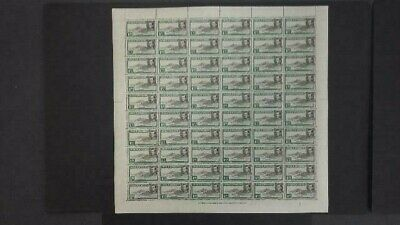 Ascension 1938-53 Kgvi 1D Black & Green Complete Sheet Of 60 Vf Unmounted Mint