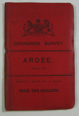 1903 Old Antique OS Ordnance Survey Ireland One-Inch Second Edition Map 81 Ardee