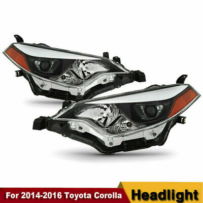 For 2014-2016 Toyota Corolla LED Headlights Headlamp Aftermarket Left+Right HOT