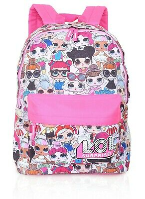 LOL Surprise! School Backpack for Girls and Teens Featuring All-Over Dolls Print