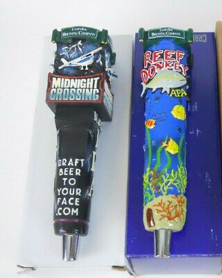 2x TBBC Brewery Beer Tap Handle Keg Lot Reef Donkey and Midnight Crossing BNIB