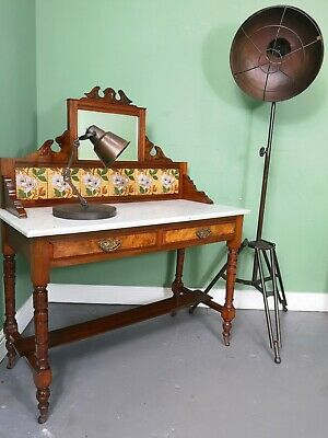 An Antique Victorian Burr Walnut Washstand Dressing Table ~Delivery Available~