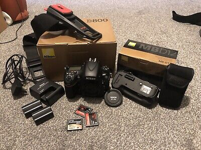 Nikon D800 36.3MP DSLR Camera Body with MB12 Portrait Grip And Accessories.