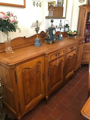 French Oak Louis XV Style Carved Ornate Sideboard - Delivery Available SC258