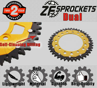 ZF Dual Rear Sprocket 43T 520P Gold  for Triumph Motorcycles