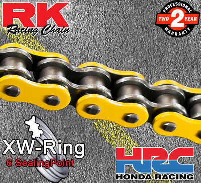 RK Yellow GXW  Drive Chain 520 P 116 L for Honda Motorcycles