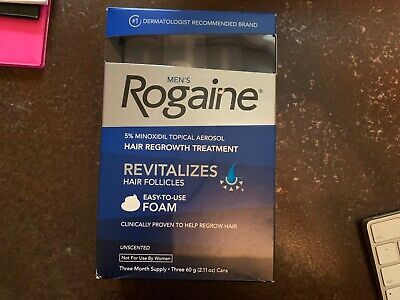 Brand new Mens ROGAINE hair regrowth treatment 3 month supply