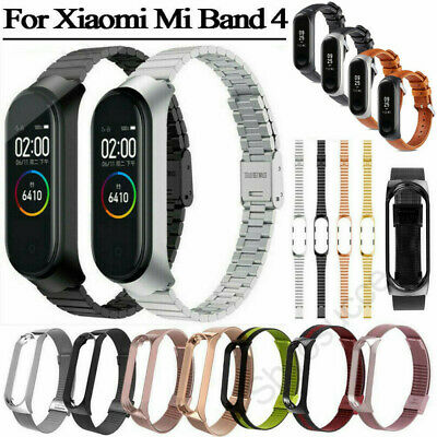 For Xiaomi Mi Band 4 2019 Metal Stainless Steel/Leather Replacement Wrist Strap