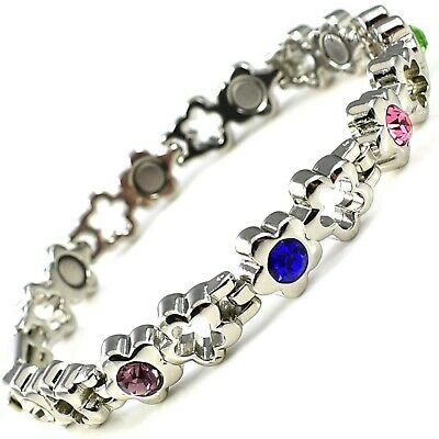 Ladies MAGNETIC BRACELET 9 MAGNETS carpal tunnel arthritis pain star Womens NEW