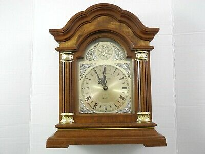 Tempus Fugit Wood Clock Westminster Chime Quartz Movement Mantel Clock